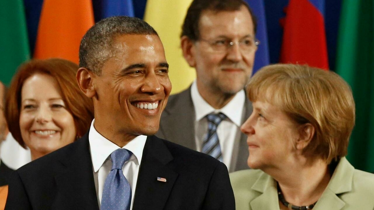 Obama y Angela Merkel