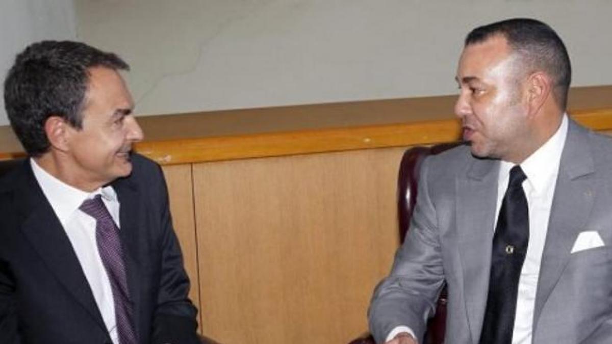 Jose Luis Rodriguez Zapatero y Hassan de Marruecos