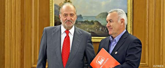 Cayo Lara y Juan Carlos de Borbón