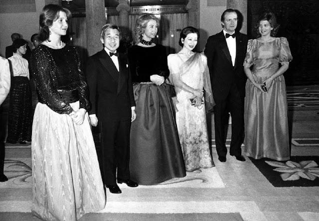 Akihito y Michiko con Juan Carlos y Sofía