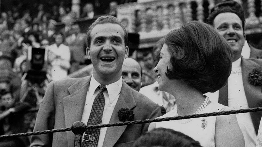Juan Carlos de Borbón con Sofía en los toros