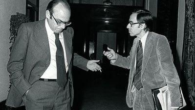 Abril Martorell con Alfonso Guerra