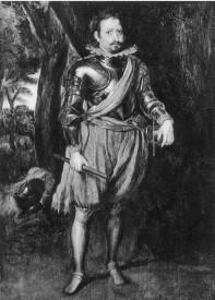 Fig. 13. Según A. van Dyck. El marqués de Leganés. Amsterdam, Galería Douwes (1934)