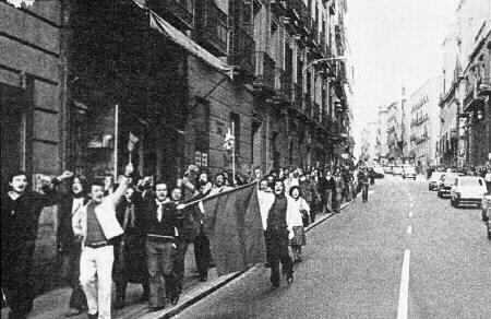 Protestas en la calle 1976