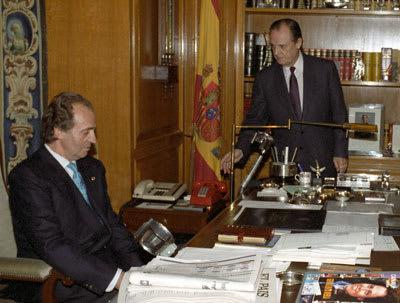 Juan Carlos de Borbón y Sabino Fernández Campo