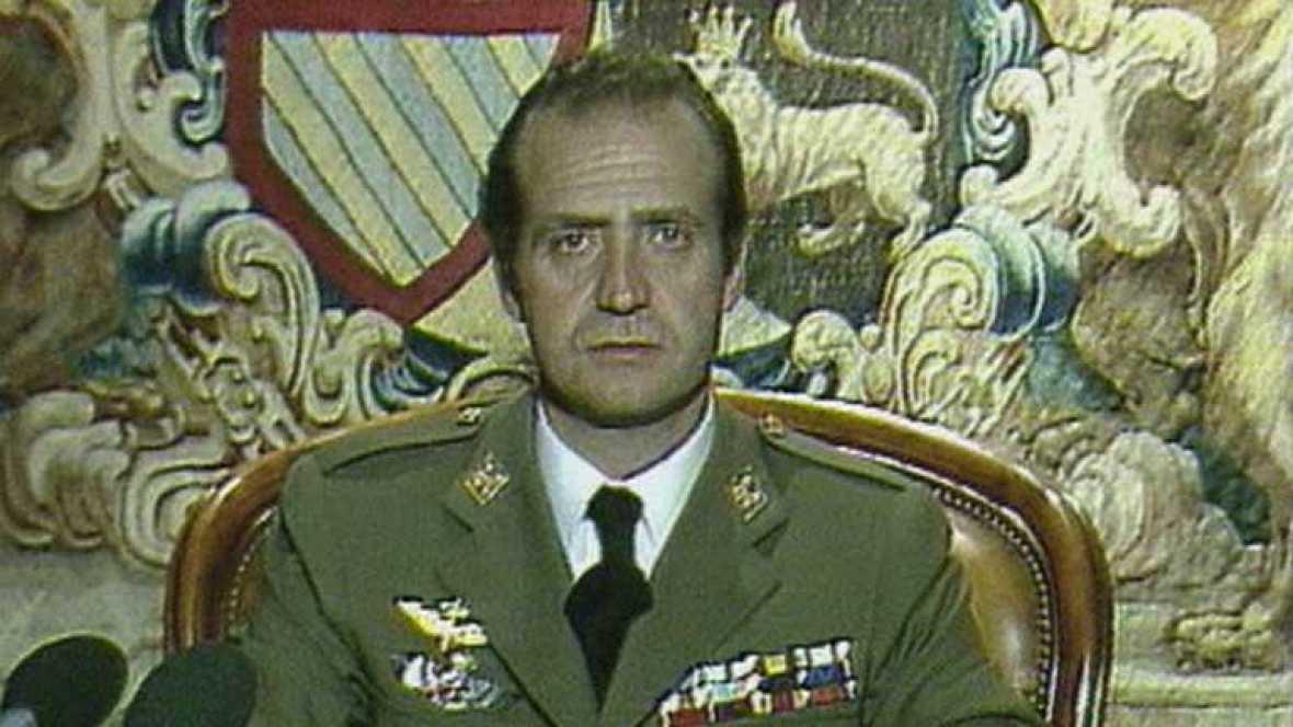 Mensaje del 23F. Juan Carlos de Borbón detiene el golpe de Estado que había iniciado