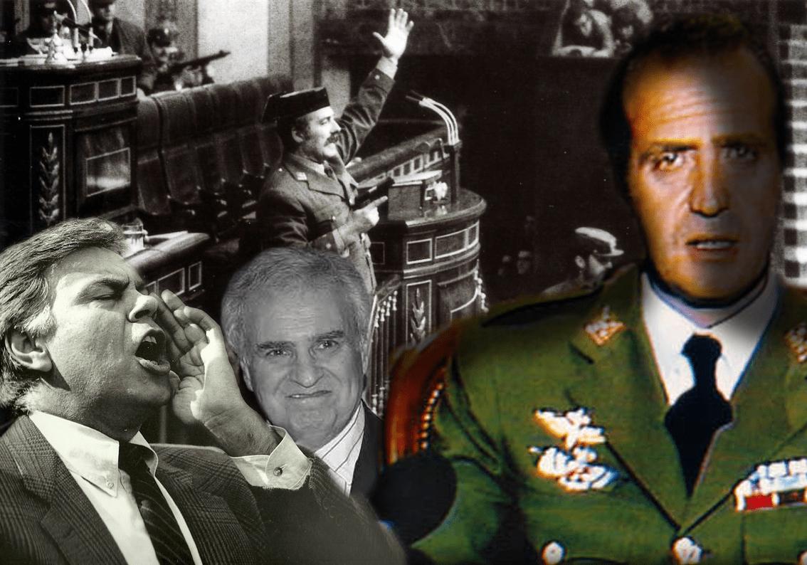 Felipe González, Múgica, Tejero y Juan Carlos de Borbón