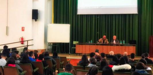 Vicente Carreño, durante la charla en el Instituto José Ibañez Martin