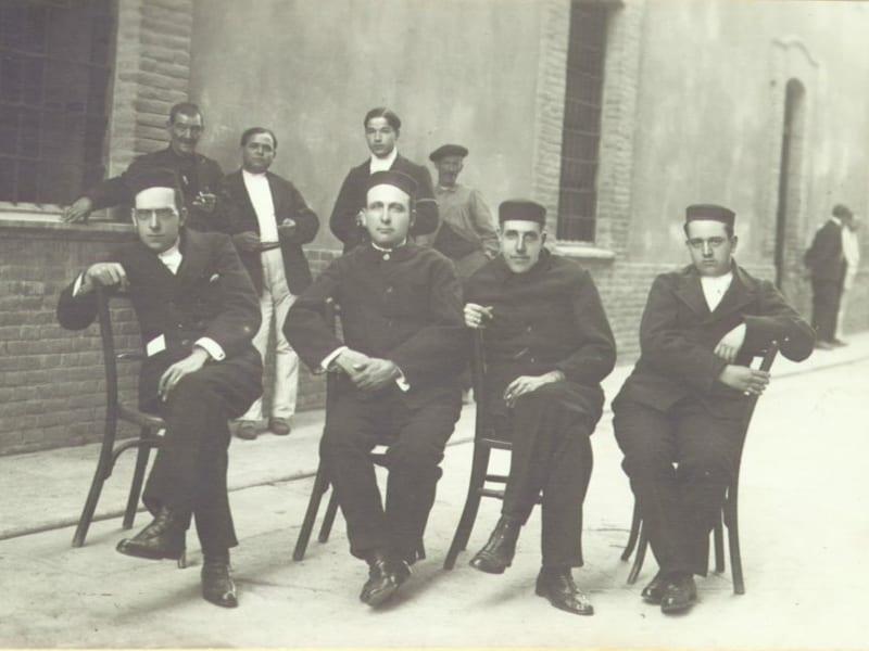 Anguiano, Largo, Besteiro y Saborit en el penal