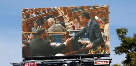 Cartel del espectáculo en el Congreso de los diputados de partidos españoles