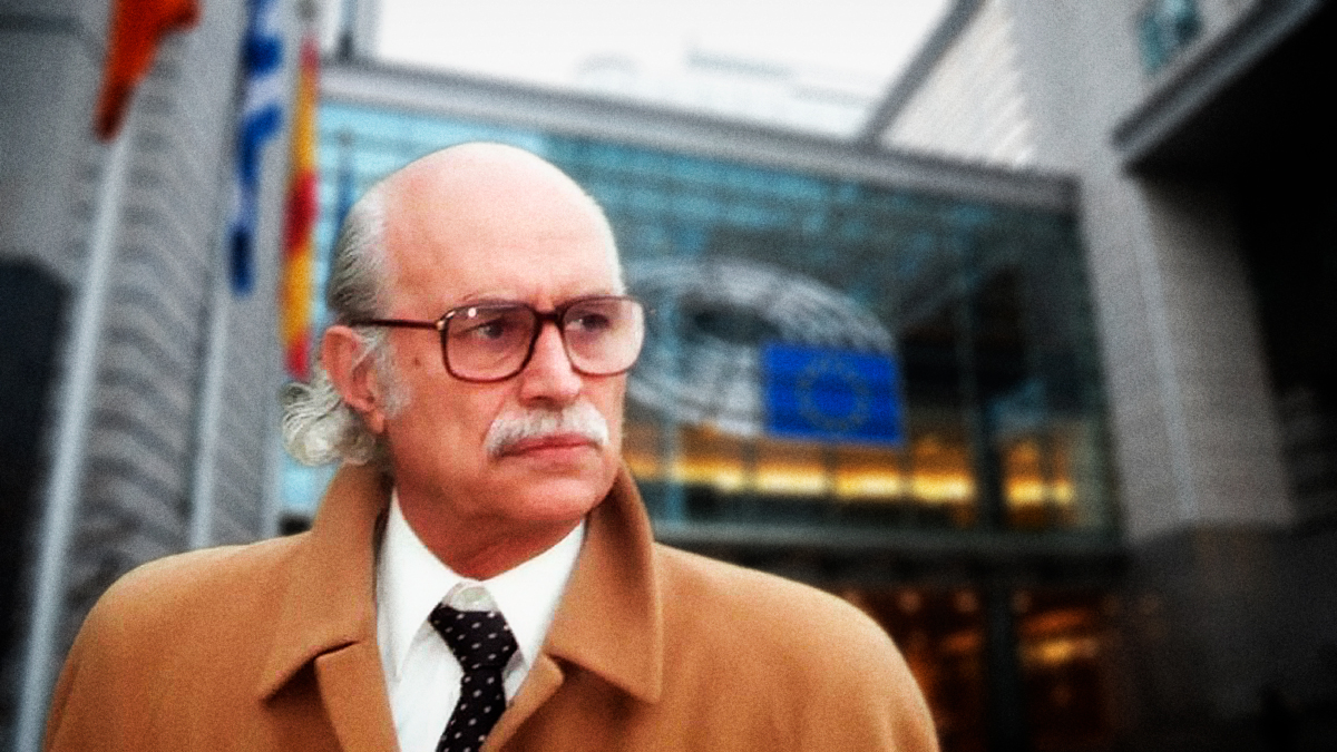 Antonio García-Trevijano en Bruselas. Denuncia PIB español falso