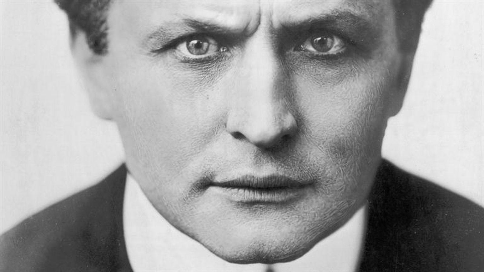 El célebre mago Houdini
