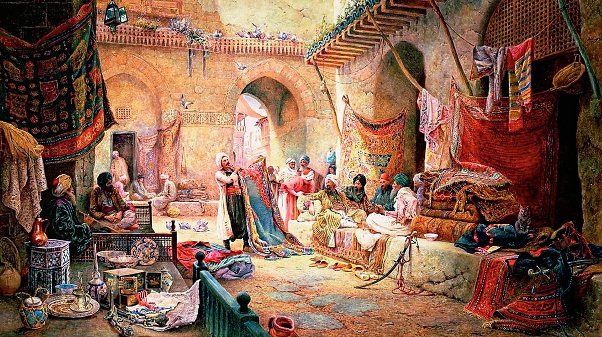 Vendedor de alfombras en El Cairo